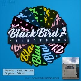 BlackBird cartel dibond vinilo de corte