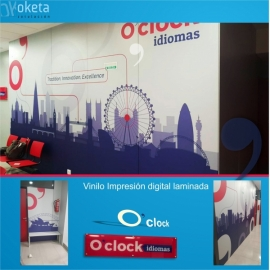 o-clock_vinilo impresion digital pared