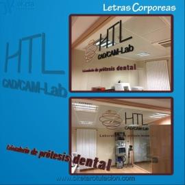 HTL dental letras corporeas