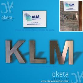 KLM-placa metacrilato