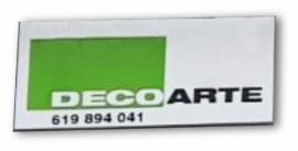 Decoarte-letras corporeas+vinilo+banderola